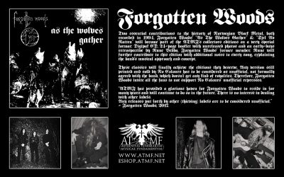 CULT005 – FORGOTTEN WOODS – AS THE WOLVES GATHER + SJEL AV NATTEN [Digipak]